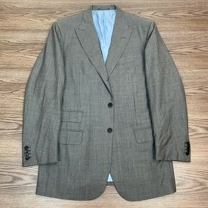 ISAIA Grey Sharkskin Super 130's Blazer 44L